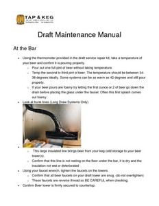 Free draft beer troubleshooting